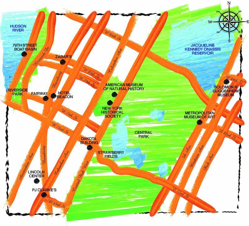 Mapa Górnego Manhattanu