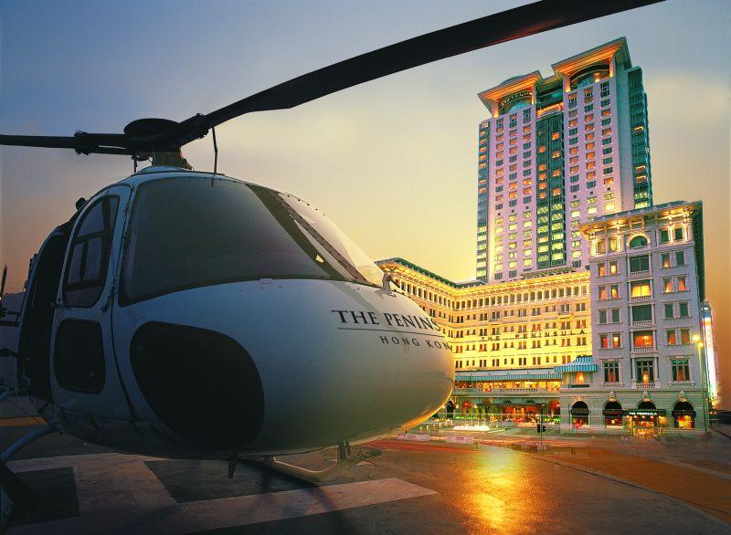 Lądowisko w hotelu, Peninsula Hongkong