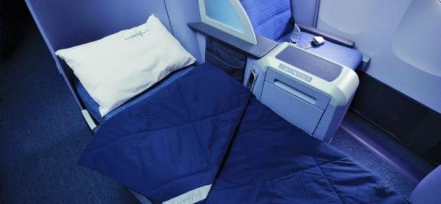 Continental Airlines, Londyn-Nowy Jork, B757-200  klasa biznes