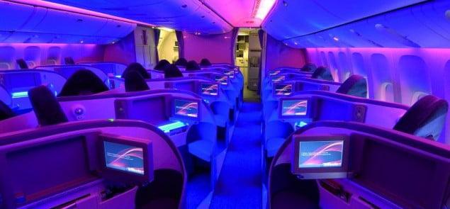 wnętrze samolotu linii lotniczych Air Canada