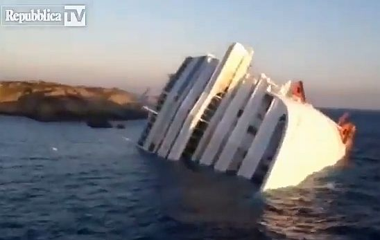 costa concordia żródło Republicca TV