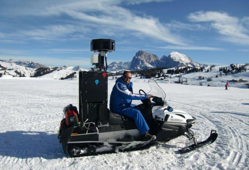 Google SKi View Snowmobile w Południowym Tyrolu