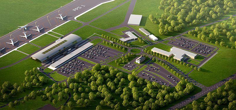 Plan lotniska w Modlinie Fot.Port Lotniczy Modlin