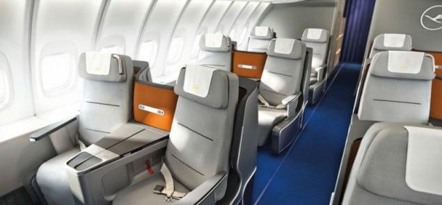 Lufthansa wnętrze samolotu  Business Class