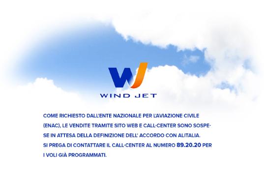 Zrut ekranu ze strony internetowej WindJet