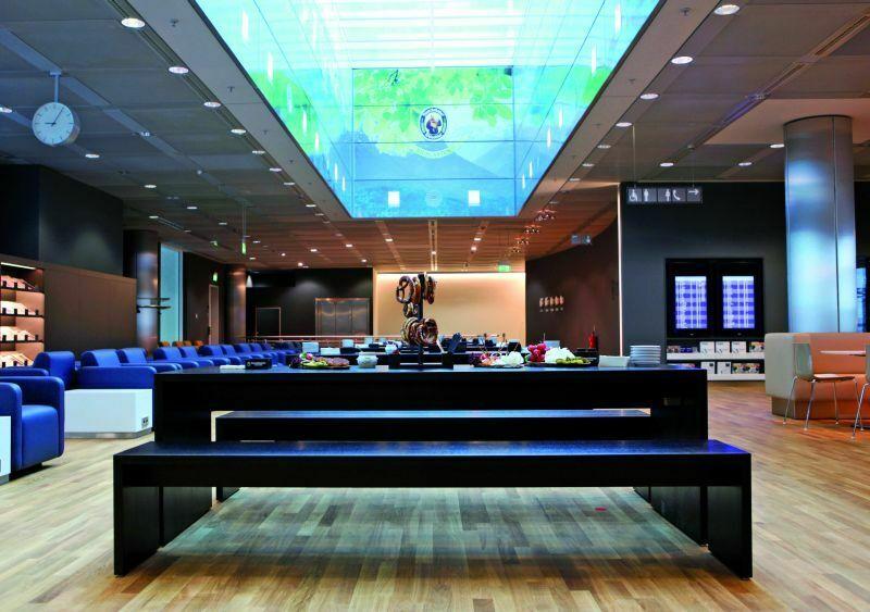 Biergarten in der Business Lounge am Müncherner Flughafen