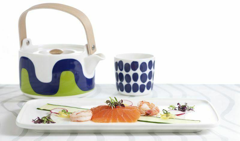 Zastawa Marimekko, która będzie podawana w samolotach Finnair, obsługujących dalekowschodnie loty. Fot. Finnair