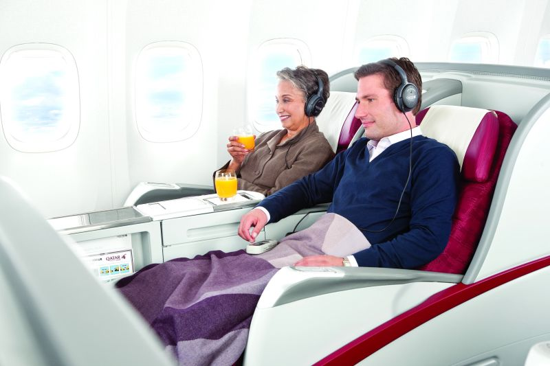 Klasa Business w samolocie Qatar Airways