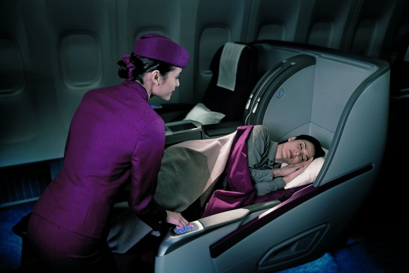 Klasa business w samolocie Qatar Airways