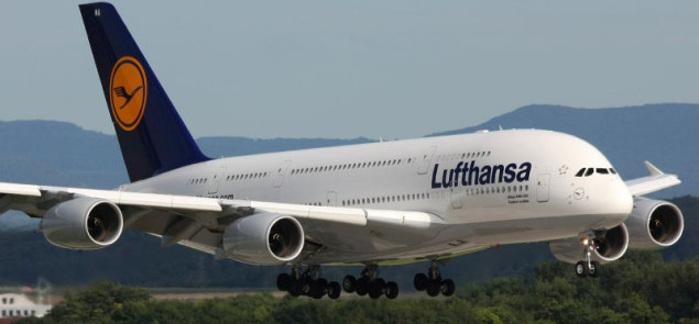 Airbus A380 w barwach Lufthansy. Fot Wikimedia Commons