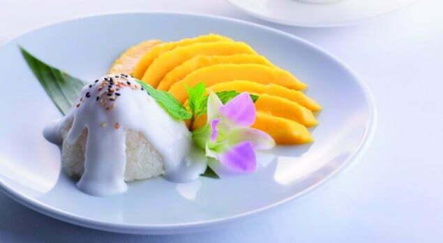Ryżowy deser z mango