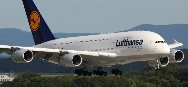 Airbus A380 w barwach Lufthansy. Fot. WikimediaCommons