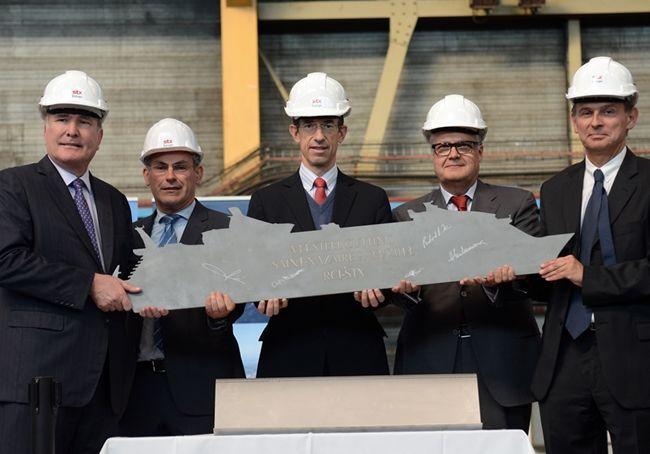 Ceremonia rozpoczęcia budowy nowego statku klasy Oasis. Fot. Royal caribbean