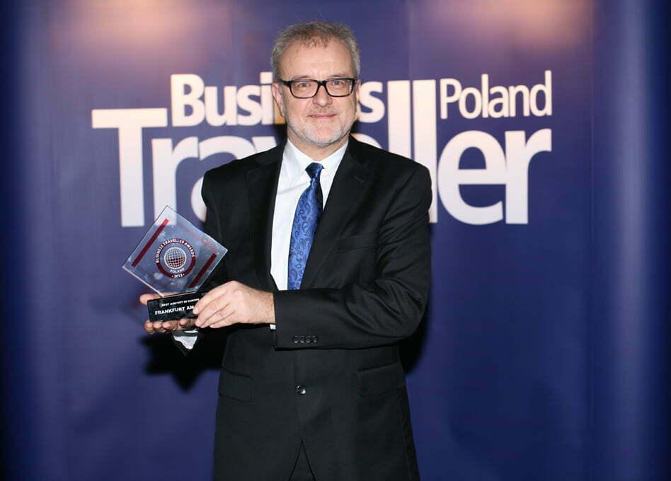 Pierwsza nagroda w kategorii Najlepsze lotnisko w Europie. Winfried Hartmann, Frakfurt am Main