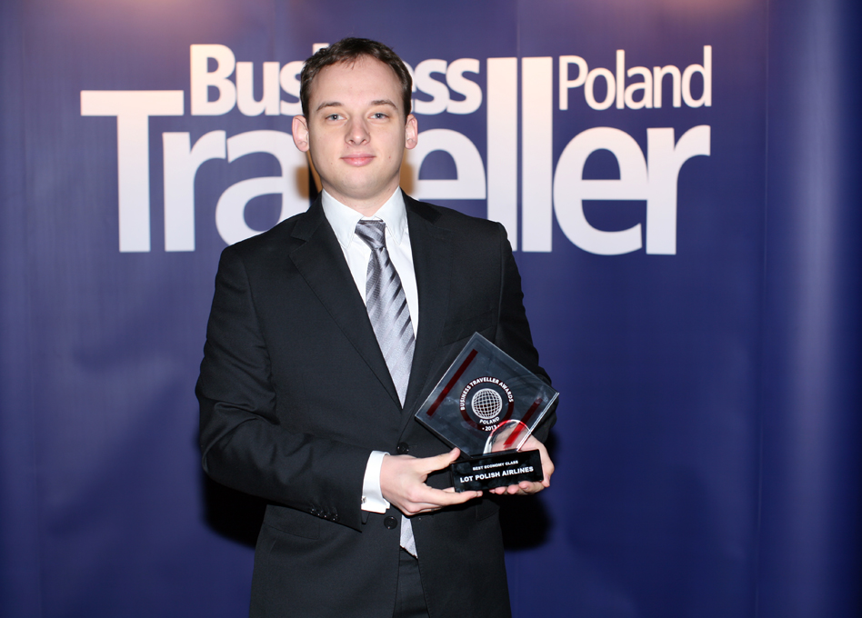 1. nagroda w kategorii Najepsza Klasa Ekonomiczna. Michał Leman, LOT