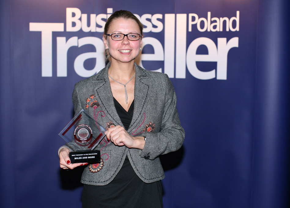 1 miejsce w kategorii Najlepsze programy lojalnościowe. Magdalena Gniadek, Miles and More
