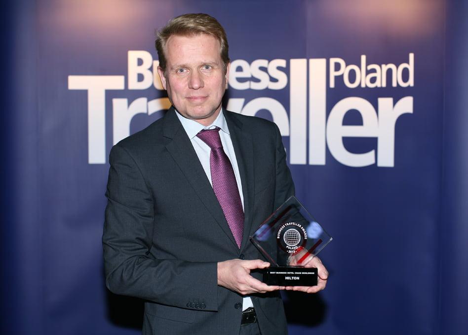 1. Miejsce w kategorii Najlepsza sieć hotelowa dla biznesu na świecie. Erwin Verhoog, Hilton