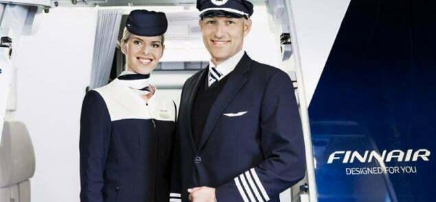 Finnair cabin attendant and pilot