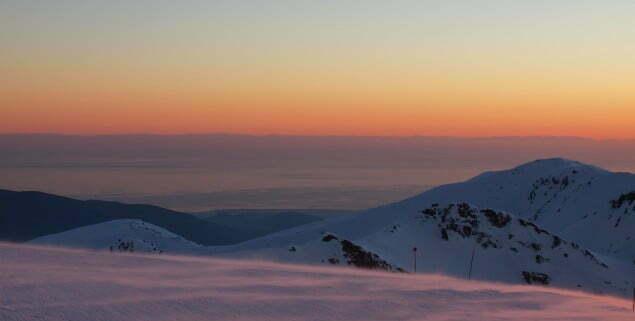 Widok z Sierra Nevada na Morze Śródziemne i marokańskie wybrzeże