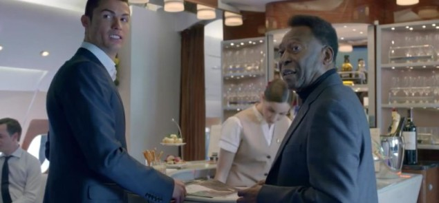Ronaldo i Pele w Emirates - YouTube