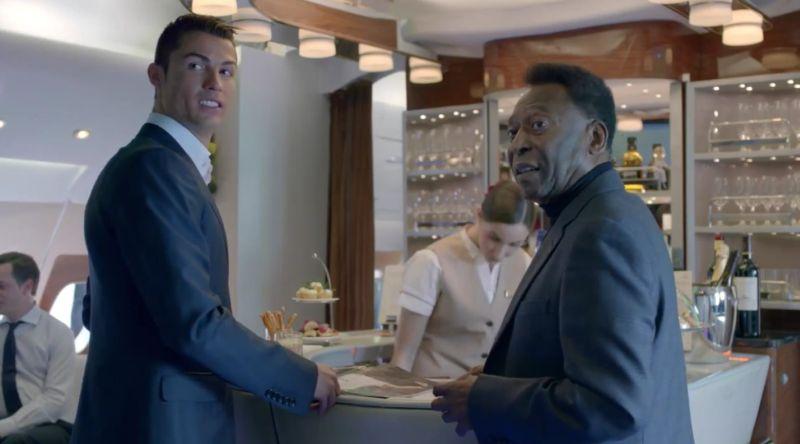 Ronaldo i Pele w Emirates - YouTube