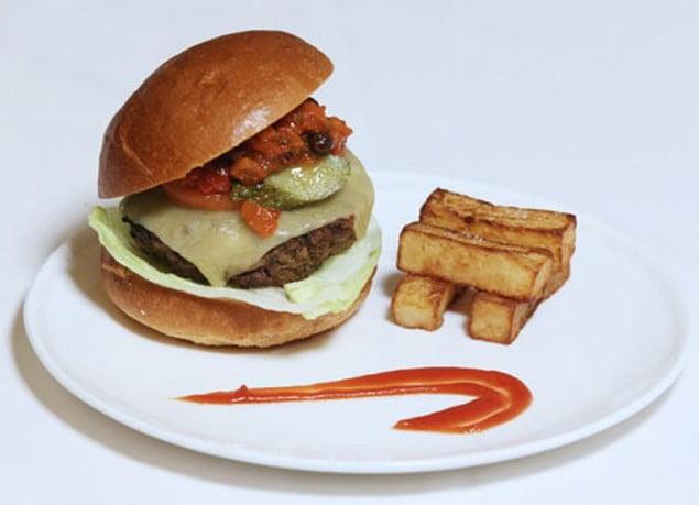 British Airways burger