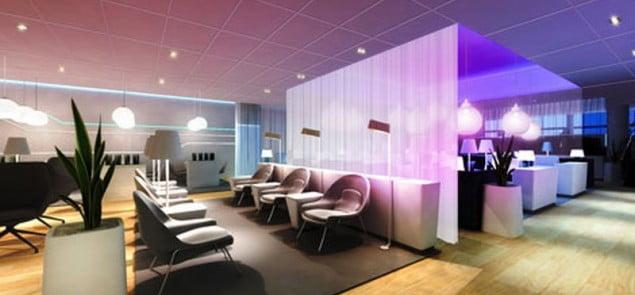 Finnair Helsinki lounge - sauna