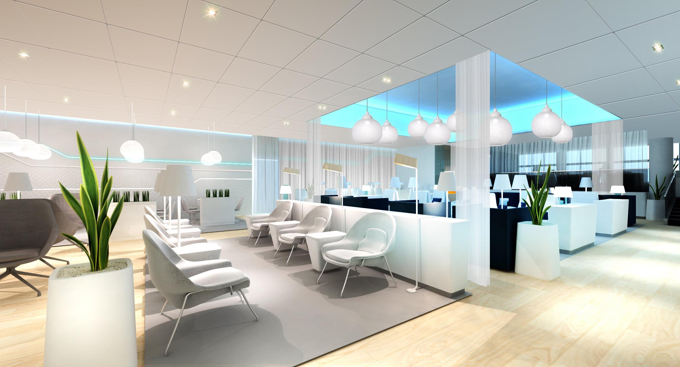 Tak będzie wyglądał nowy Premium Lounge na lotnisku w Helsinkach