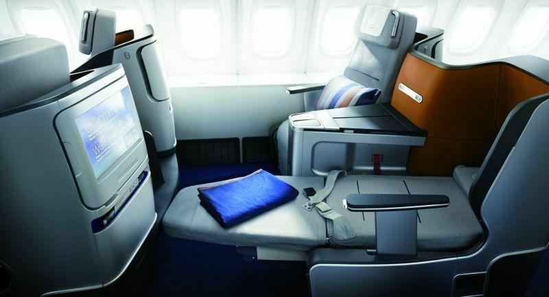 Klasa biznes w Jumbo Jetach Lufthansy