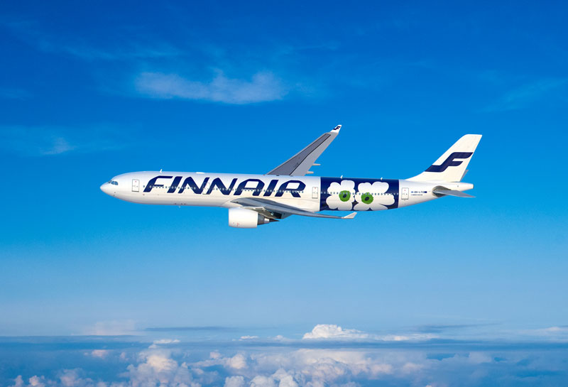 Nowy wzór Marimekko na Airbusie A330