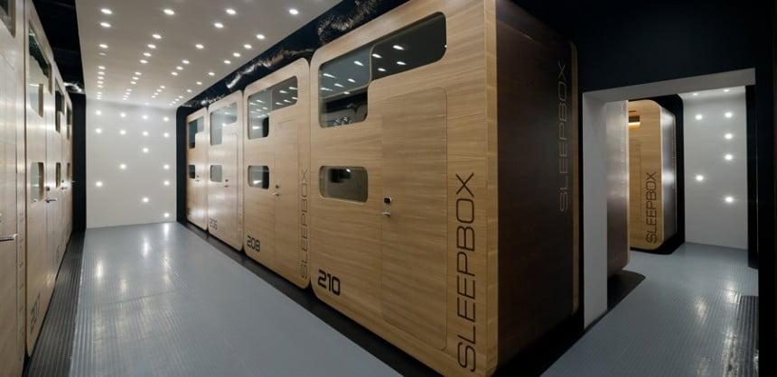 Sleepboxy to de facto minihoteliki, które można ustawić np. na lotnisku. Fot. sleepbox.com