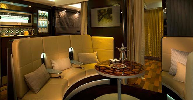W Etihad Residence pasażerowie - a może być ich w sumie tylko kilku - ma do dyspozycji lobby.
