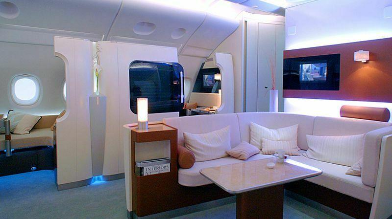 Apartament pierwszej klasy w Airbusie A380 linii Qantas.