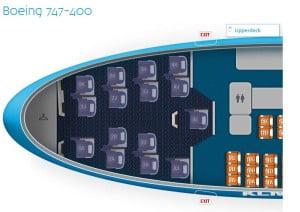 KLM 747 kabina