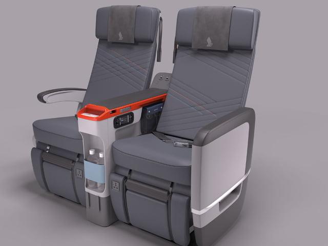 Tak będą wyglądać fotele w nowej klasie premium economy w Singapore Airlinese