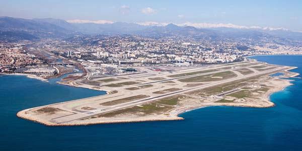 Lotnisko w Nicei z lotu ptaka
