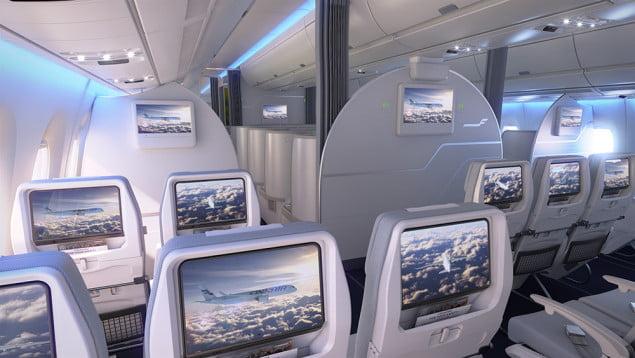 Klasa ekonomiczna w nowym Airbusie