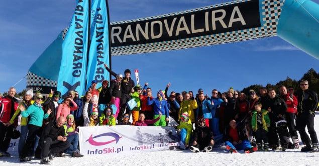 Uczestnicy slalomu w Grandvalirze