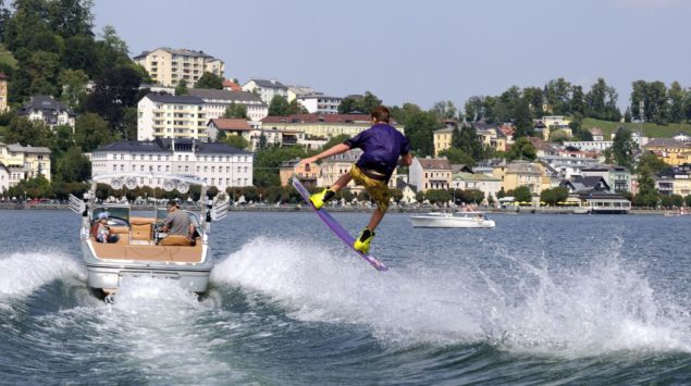 Traunsee, wakeboarding Fot. MTV Ferienregion Traunsee