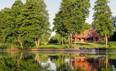 Lawendowy Winiec od jeziora Mazury pokój z widokiem wakacje, fot. archiwum Lawendowego Wińca  - Zbigniew Rochowicz