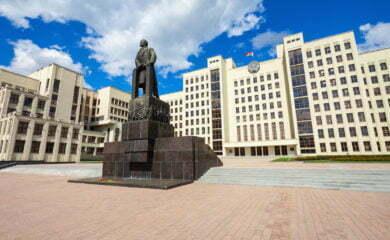 Budynki rządowe w Mińsku. Fot. Fotolia.com