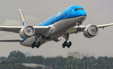 samolot-klm-w-locie